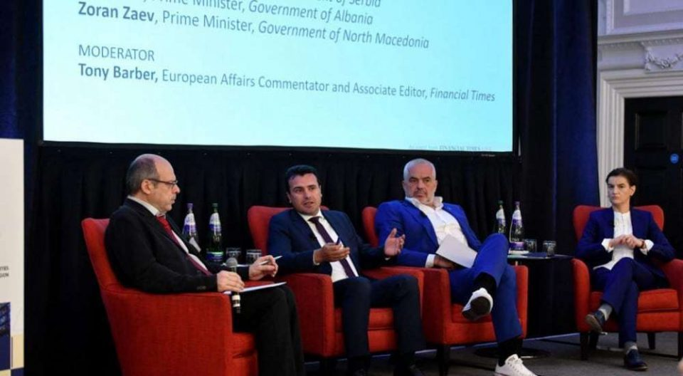 """Zaev and Rama """"coupled"""" at a business forum in London"""