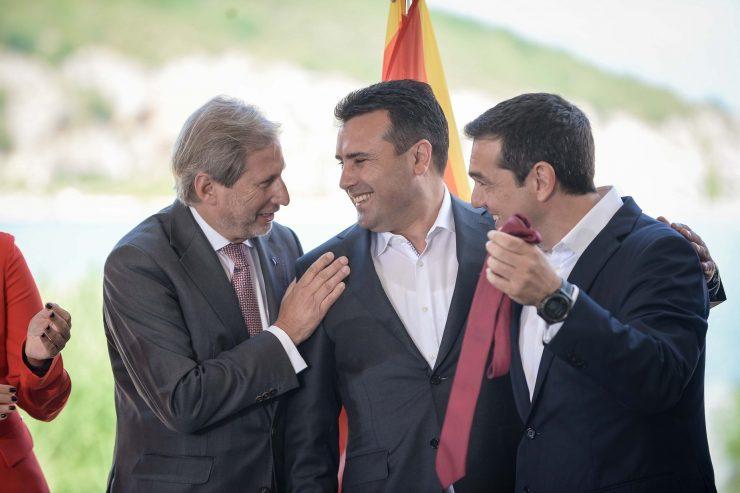 "Greek Kathimerini: For the first time, it's not Greece's fault that ""Skopje"" won't begin its EU accession talks"