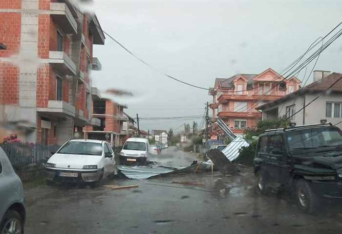 Powerful storm hits Struga