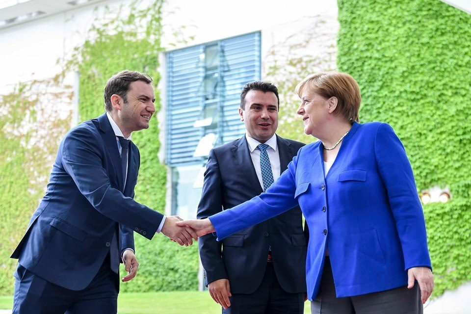 As Zaev claims that EU accession talks begin in September, Merkel makes no such pledge