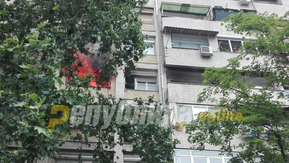 Fire breaks out in a Skopje apartment building