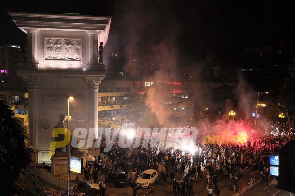 Vardar champions pass underneath Macedonia Gate