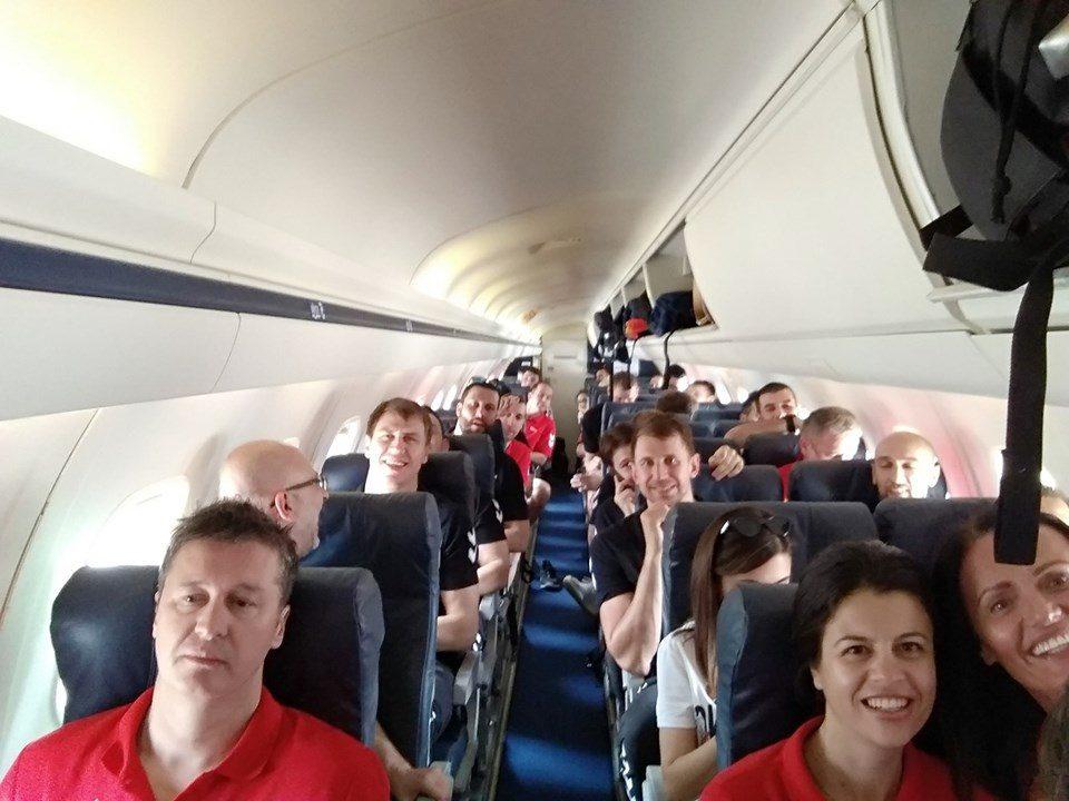Vardar team lands at Skopje airport
