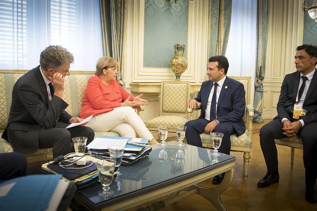 Zaev's Government says Merkel promised him EU accession talks in September