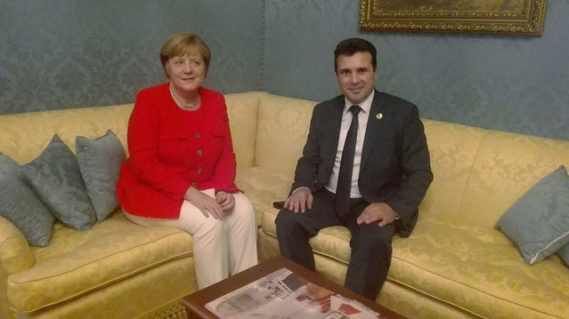 Zaev is having a crucial morning meeting with Merkel