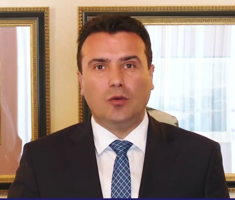 In a video address, Zaev says Merkel assured him that the Bundestag will approve EU accession talks in September