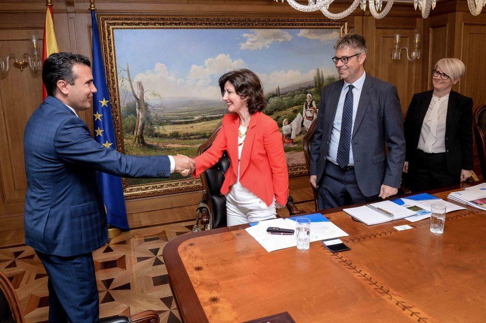 Zaev meets UNHCR representative to discuss citizenship rights for all
