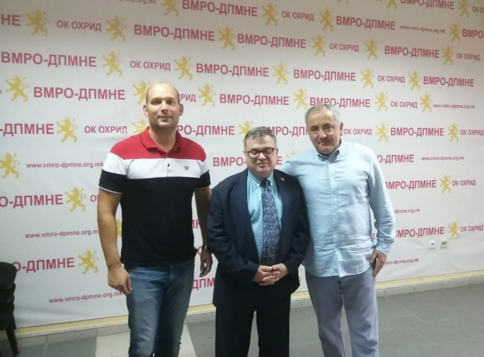 VMRO-DPMNE officials in Ohrid discuss the problems the city faces with French Ambassador Thimonier