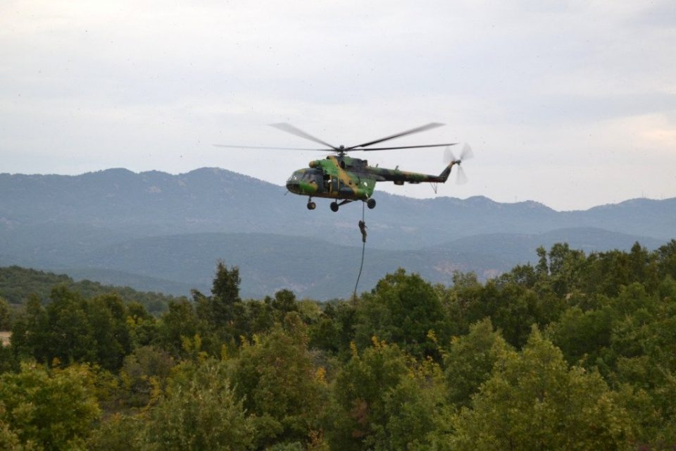 Helicopter rescue team saves girl lost in a mountain near Prilep