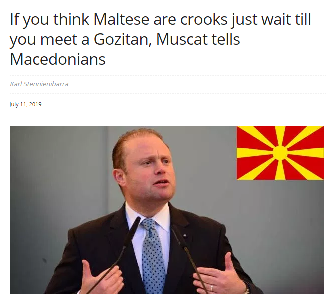 After his racist insults, a Maltese site invites Raskovski to come visit them, see real crooks in action