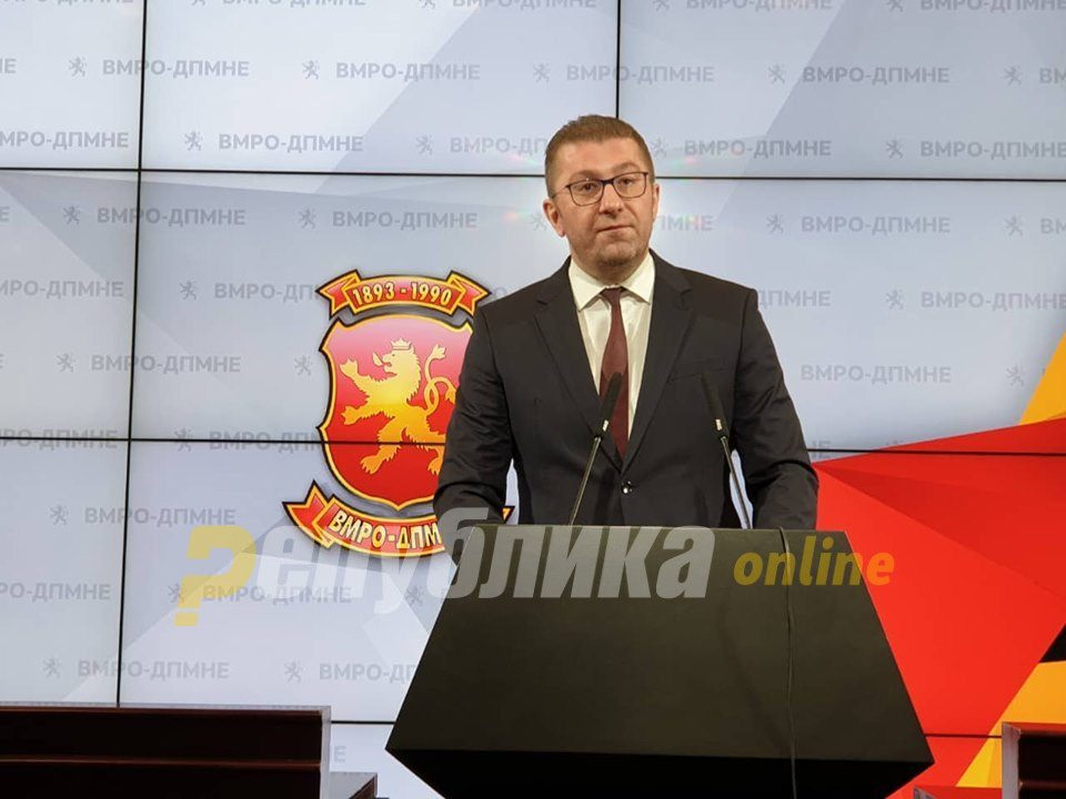 Mickoski warns that Zaev wants political radicalization as a way out of the latest scandal