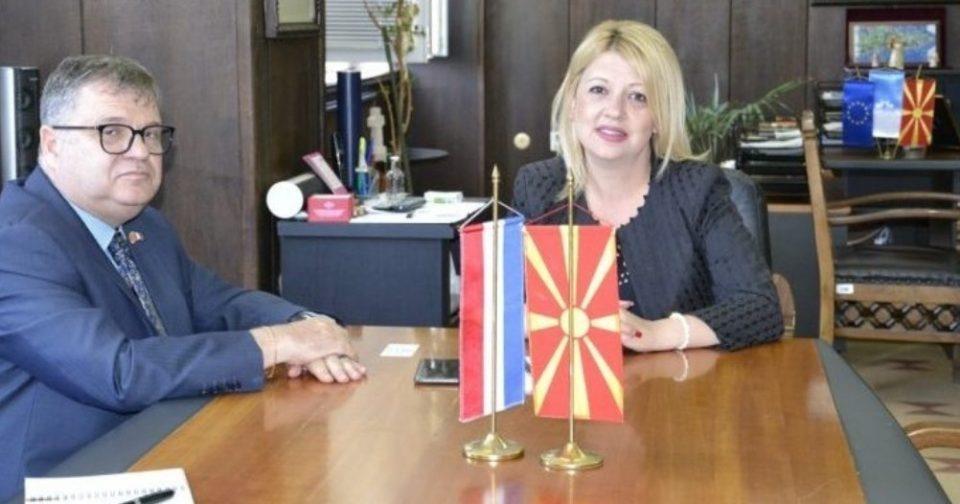 Struga welcomes French Ambassador Thimonier with the Dutch flag