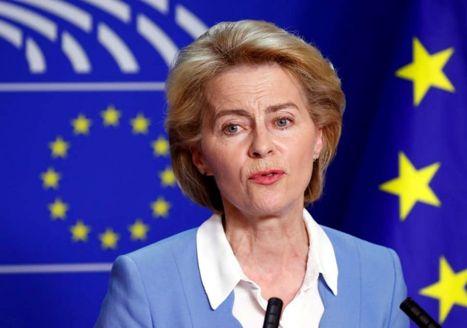 Von der Leyen makes no mention of Macedonia, or EU enlargement, in her speech before the European Parliament
