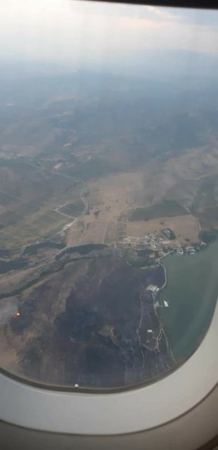 Aerial photos of Veles fire