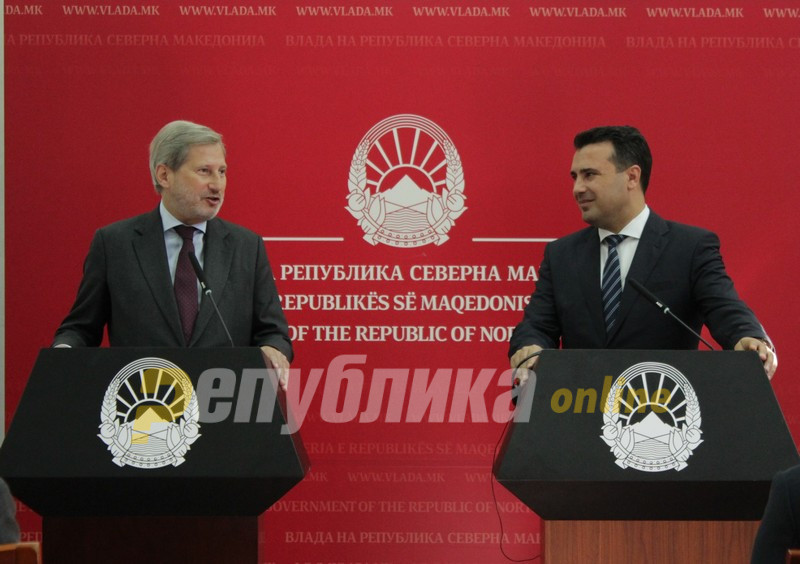 Zaev and Hahn discussed what to do next regarding the fast growing corruption scandal