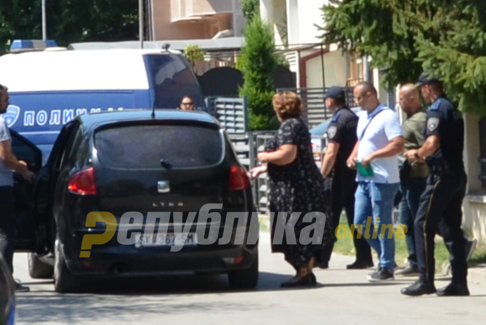 Janeva attends her mother's funeral in Gevgelija with police escort