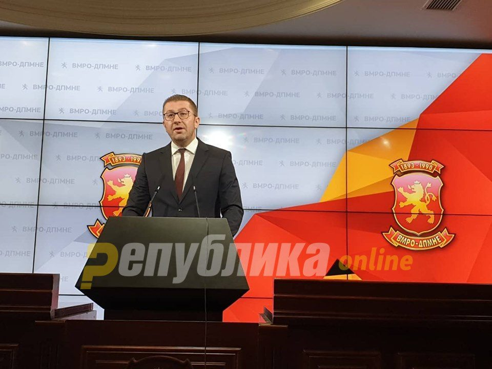Mickoski: SDSM will try to paint a fake rosy picture of the economic situation before the elections