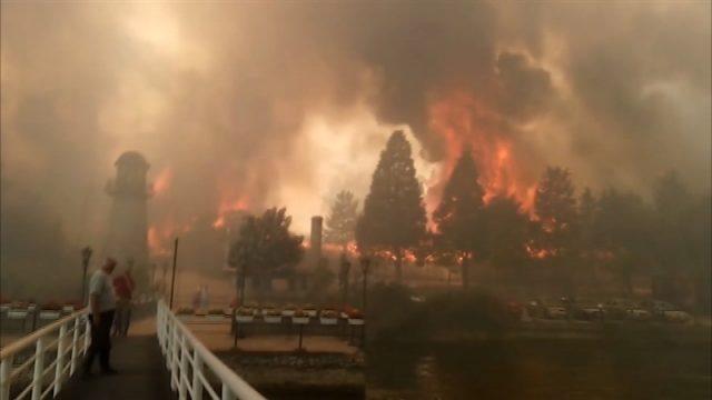 Lake Mladost fire near Veles still burning