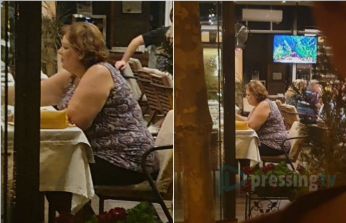 Following Tuesday's questioning at the Prosecution, Janeva spotted enjoying relaxed dinner