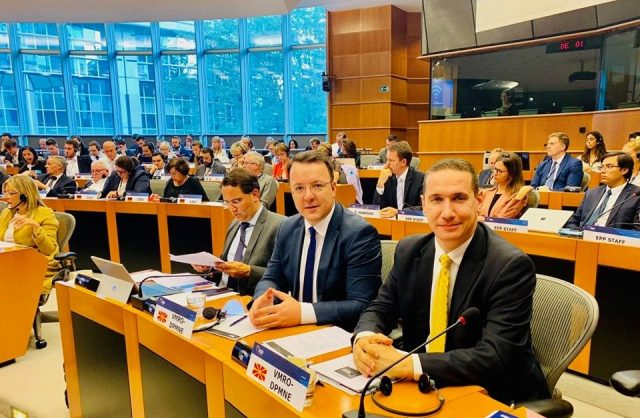 Nikoloski and Gjorcev represent VMRO at the EPP conference in Brussels