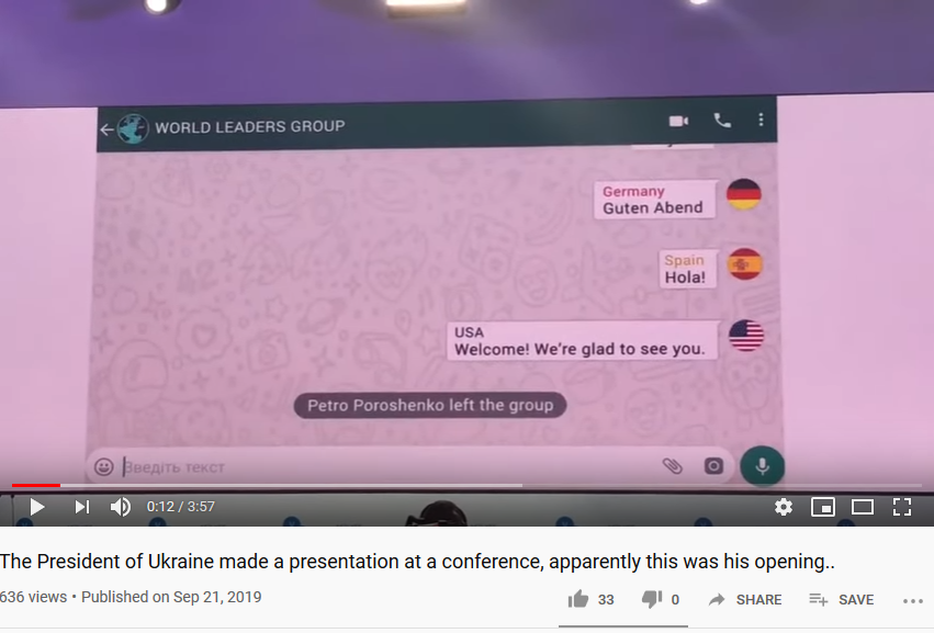 Ukraine's President made a hilarious presentation at a conference