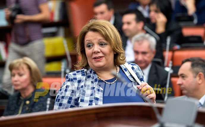 SDSM and DUI vote against VMRO proposal to remove Katica Janeva from her office