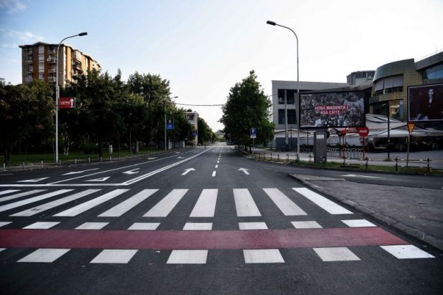 Roller ski coup expected to grind traffic around the Skopje City Mall to a halt for three days