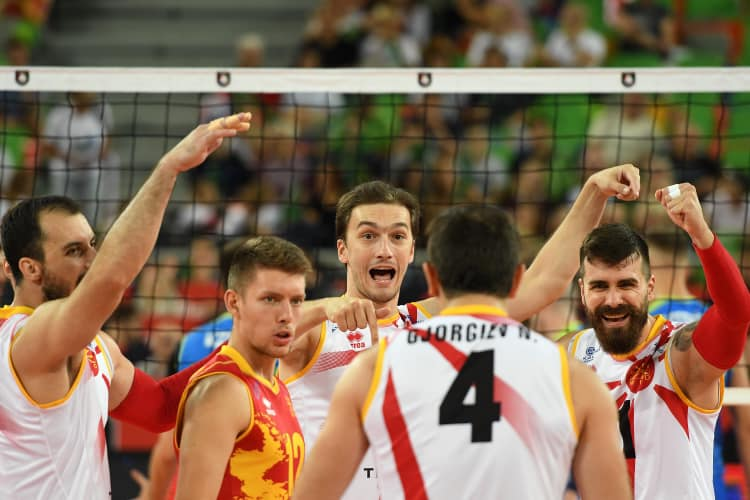 Macedonia's team scores second victory at the European volleyball championship, with chances for second round