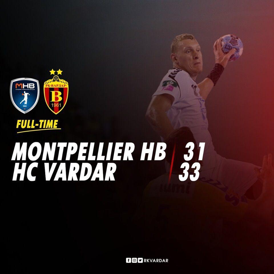 Handball: Vardar beats Montpellier 33 – 31