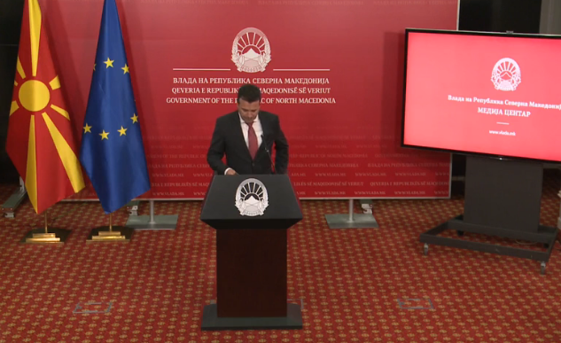 Zaev says he's disappointed by the failure of the talks