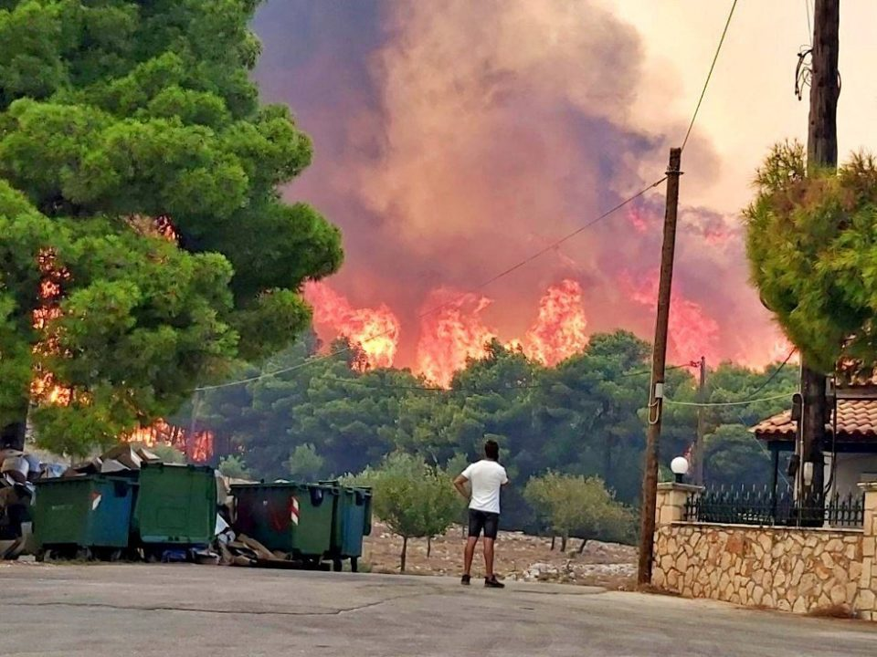 Villages evacuated as wildfire rages on Greek island of Zakynthos