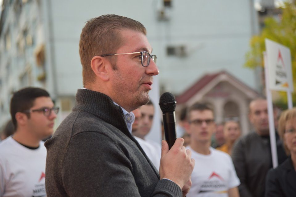 Mickoski in Strumica: Promises to restore the rule of law and pride in Macedonia