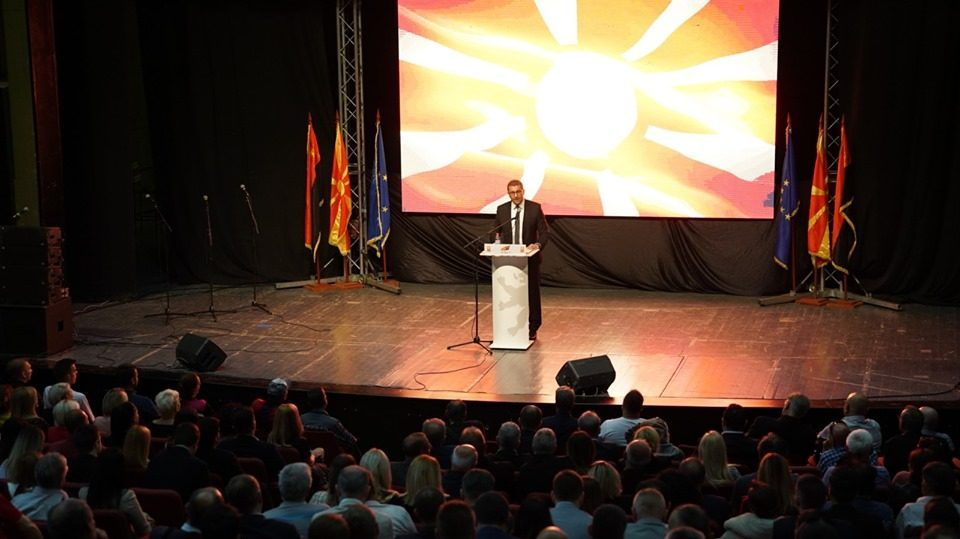 Mickoski promises a push to fight corruption, to bring Macedonia on a fast track to the EU, patriotism but not nationalism