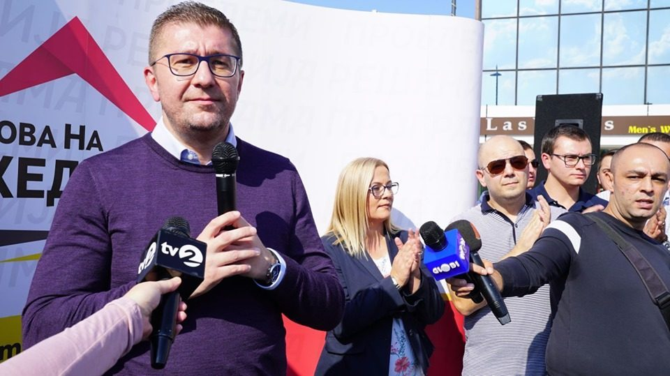 Mickoski: We need to form interim government, interim prime minister and go to early parliamentary elections