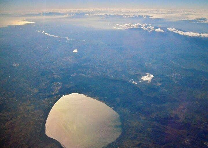 Dojran Lake, Vardar River and Aegean Sea in one photo