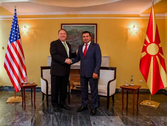 Zaev-Pompeo meeting: US will continue to partner with Macedonia