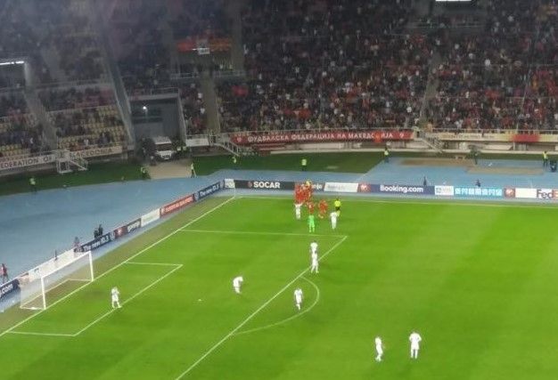 "Football fans chanted ""Never North – Only Macedonia"""