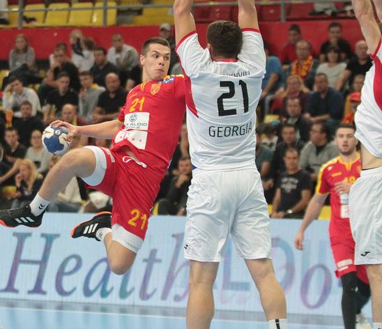 Macedonia beats Georgia 25:21 in a handball friendly