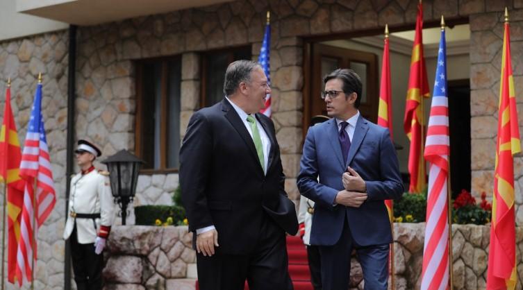 Pendarovski-Pompeo: Deepening strategic partnership with US