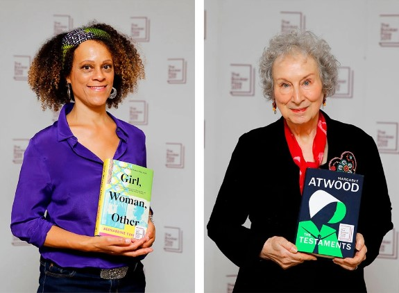 Writers Margaret Atwood and Bernardine Evaristo share Booker Prize