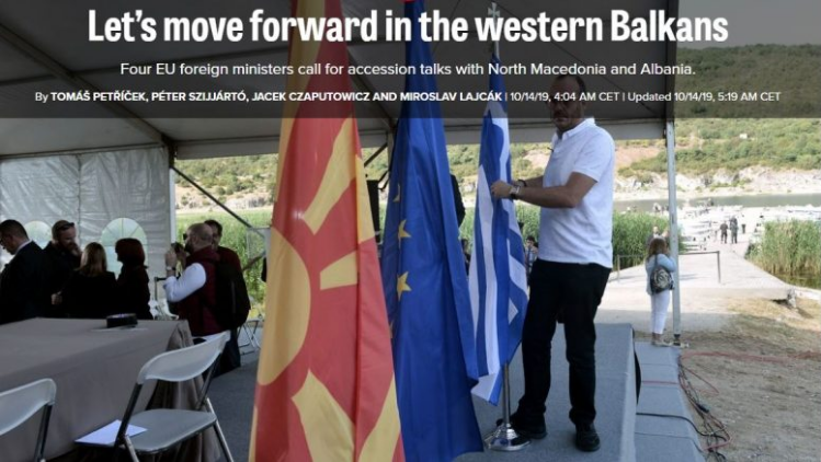 Visegrad foreign ministers call on the EU to open accession talks with Macedonia and Albania