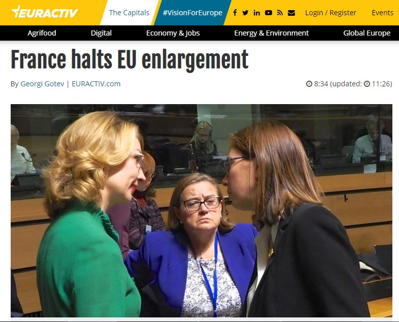 Euractiv: France halts EU enlargement