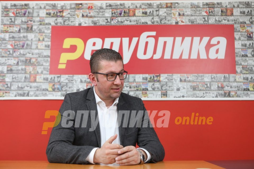 Mickoski: Venice Commission concludes that Macedonia's legal system is collapsing, that's why there is no progress