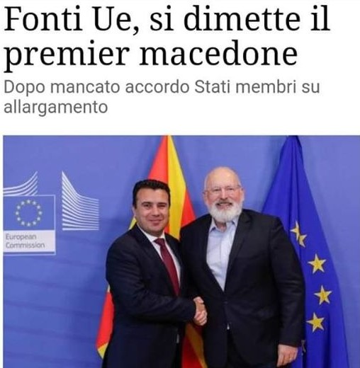 Diplomatic sources claim Zaev resigned?