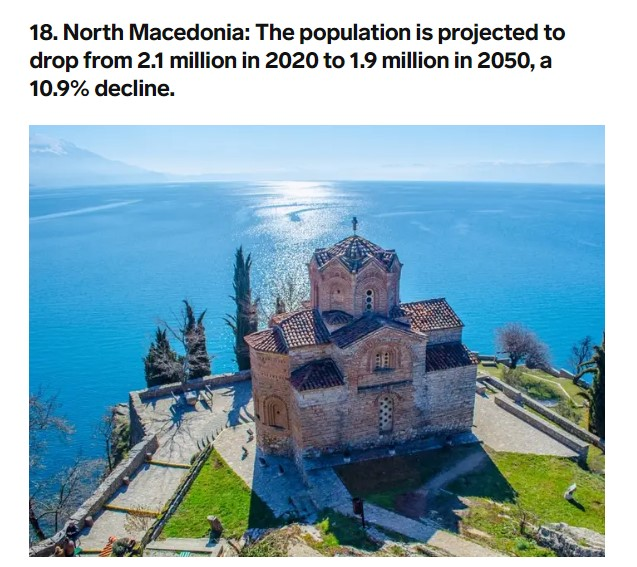 Business Insider: Macedonia among 20 countries facing population collapse
