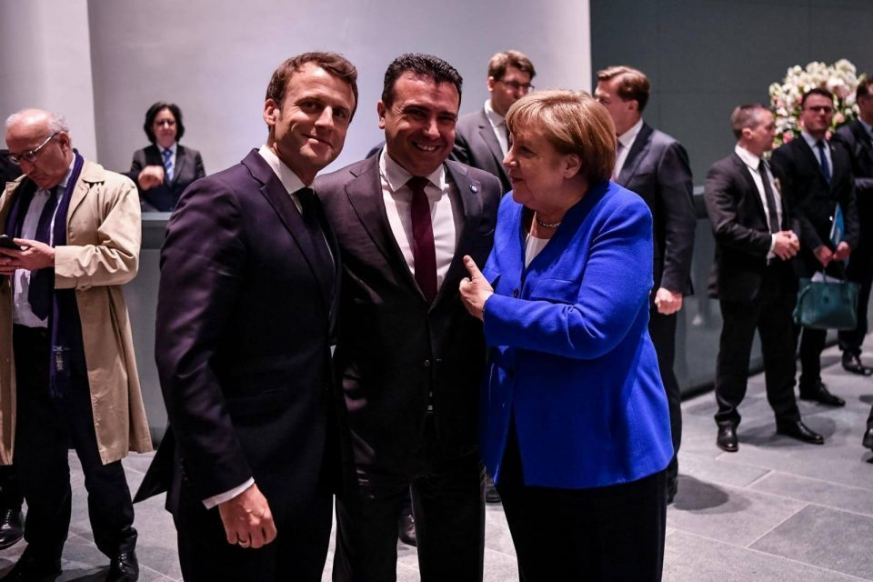 Merkel to make last push for Macedonia EU accession talks, no one believes Macron will change his position by Friday