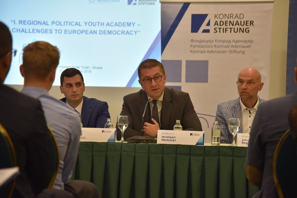Mickoski at the KAS youth conference: We've never had such a transparently corrupt Government
