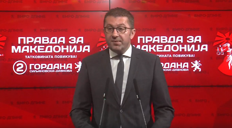 Mickoski: Failure to get date is not because of the people, but because of Zaev's policies