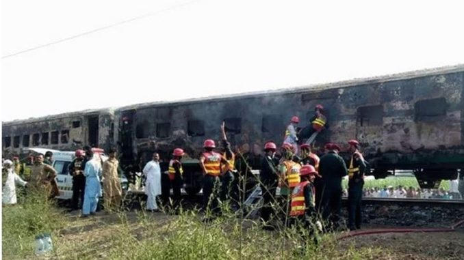 At least 73 killed on Pakistan train after gas stove explodes