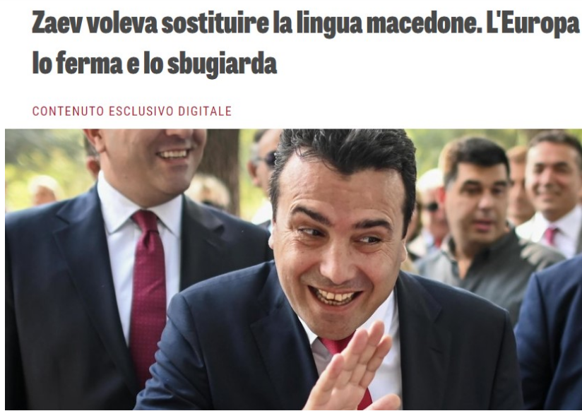 La Verita: Council of Europe prevents Zaev from undermining the Macedonian language